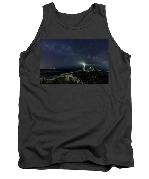 Milky Way At Portland Head Light Tank Top