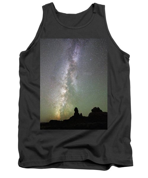 Milky Way Over Arches Np Four Tank Top