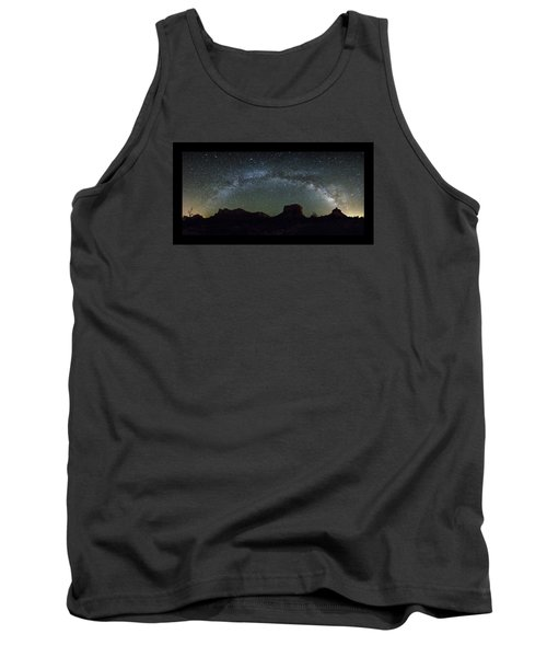 Milky Way Over Bell Tank Top by Tom Kelly
