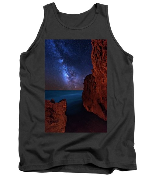 Tank Top featuring the photograph Milky Way Over Huchinson Island Beach Florida by Justin Kelefas