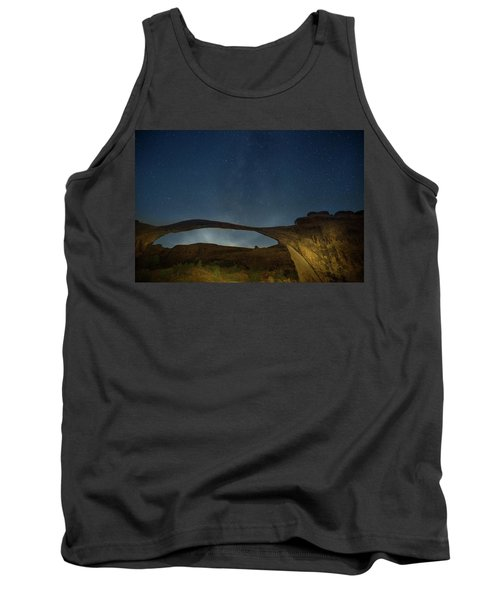 Milky Way Over Landscape Arch Tank Top