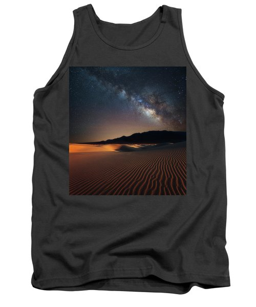 Tank Top featuring the photograph Milky Way Over Mesquite Dunes by Darren White
