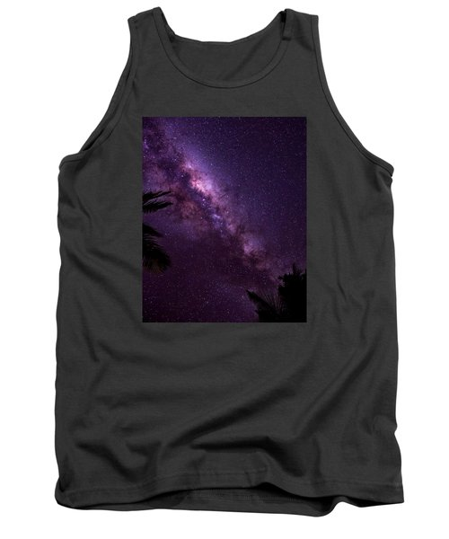 Milky Way Over Mission Beach Vertical Tank Top by Avian Resources