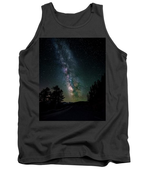 Milky Way Over Rocky Mountains Tank Top