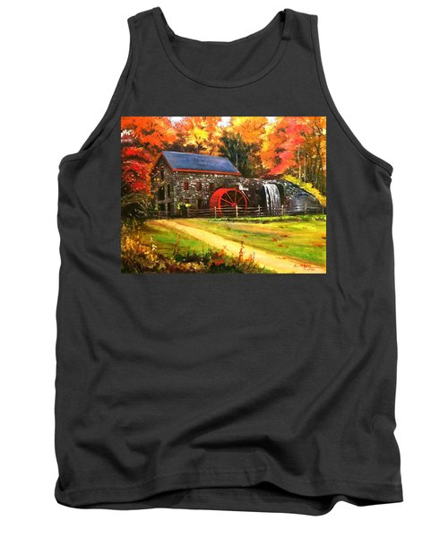 Tank Top featuring the painting Mill House by Rose Wang