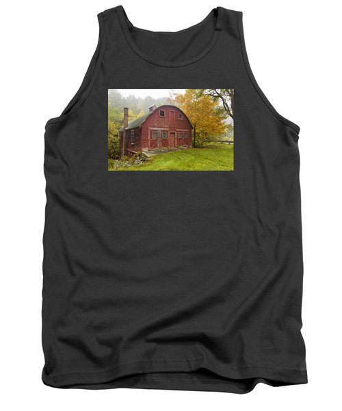 Tank Top featuring the photograph Mill In Autumn by Tom Singleton