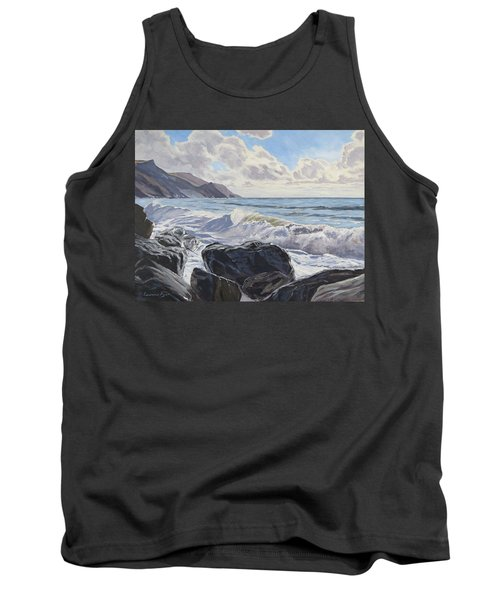 Tank Top featuring the painting Millook Haven by Lawrence Dyer