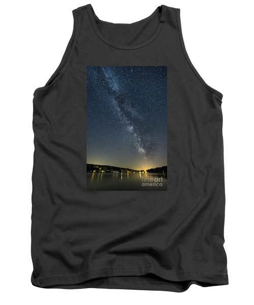 Milky Way From A Pontoon Boat Tank Top by Patrick Fennell