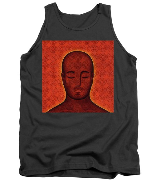 Tank Top featuring the mixed media Mind Circles by Gloria Rothrock