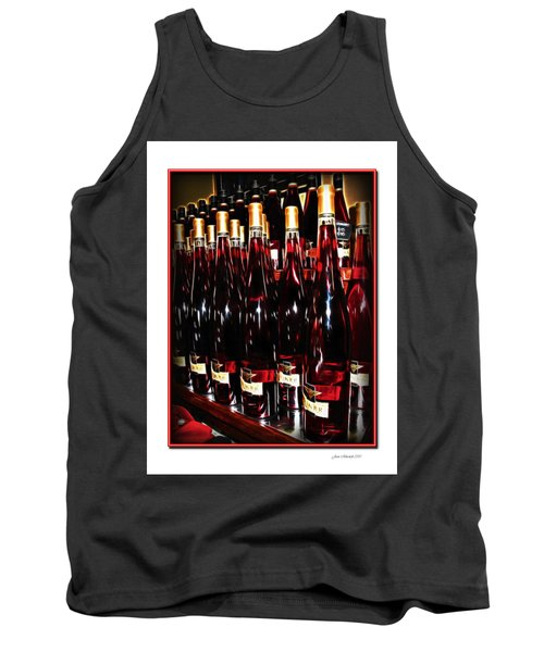 Tank Top featuring the photograph Miner Pink Sparkling Wine by Joan  Minchak