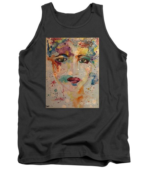Tank Top featuring the painting Minerva by Denise Tomasura