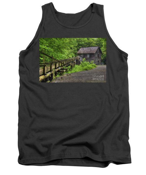 Tank Top featuring the photograph Mingus Mill 2 Mingus Creek Great Smoky Mountains Art by Reid Callaway