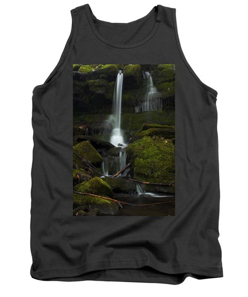 Tank Top featuring the photograph Mini Waterfall In The Forest by Jeff Severson