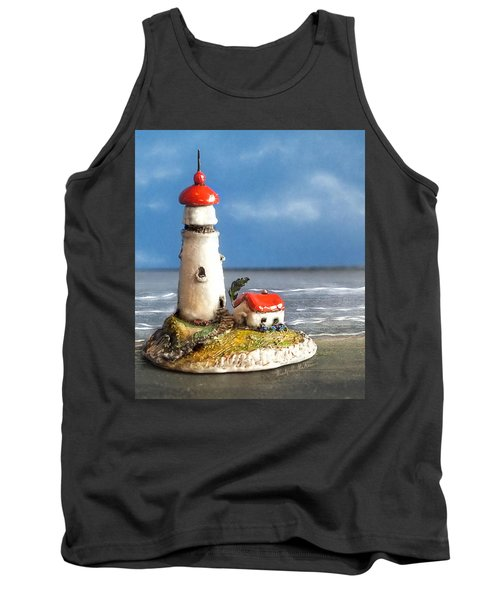 Tank Top featuring the photograph Miniature Lighthouse by Wendy McKennon