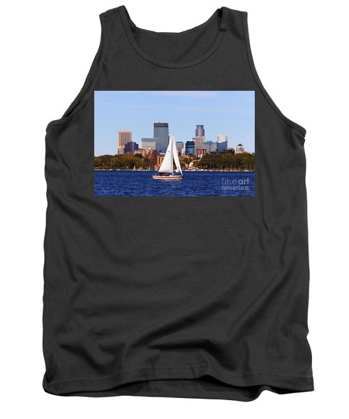 Minneapolis Skyline Lake Calhoun Sailing Tank Top