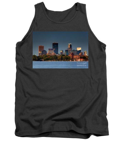 Minneapolis Skyline Photography Lake Calhoun Summer Evening Tank Top