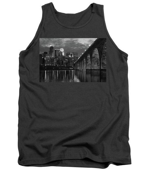 Minneapolis Stone Arch Bridge Bw Tank Top