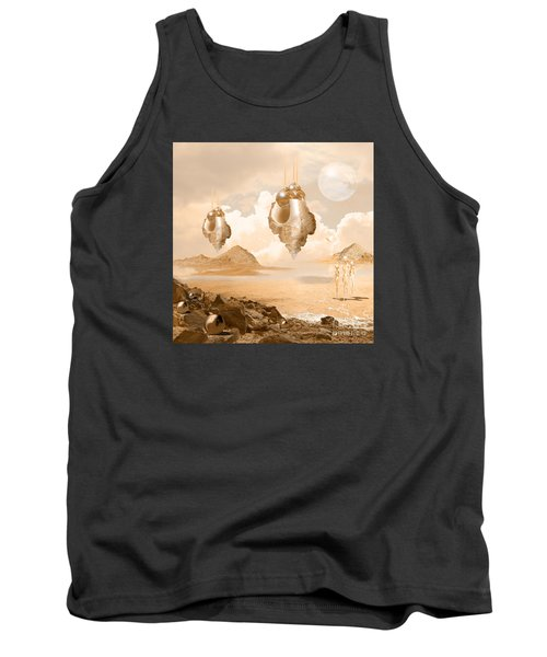 Mission In A Far Planet Tank Top