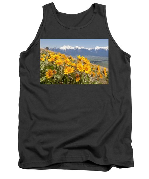 Mission Mountain Balsam Blooms Tank Top by Jack Bell