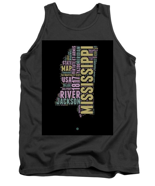 Mississippi Word Cloud 1 Tank Top