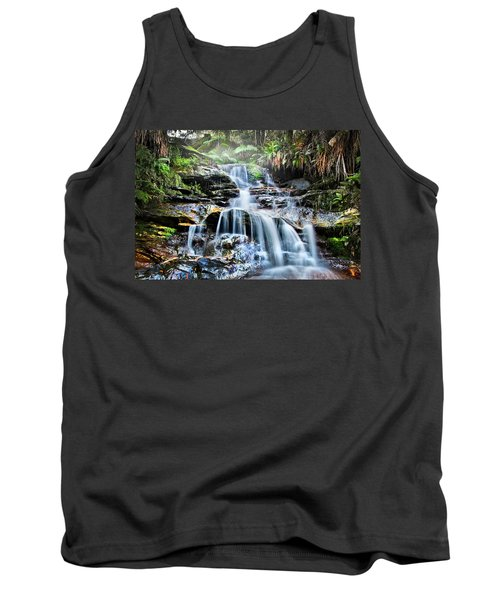Tank Top featuring the photograph Misty Falls by Az Jackson
