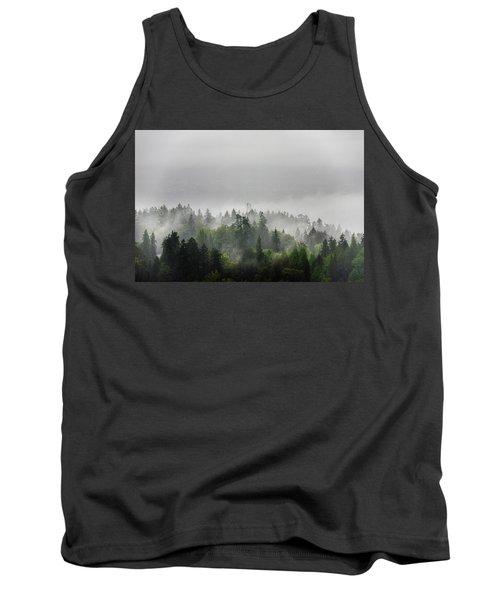 Misty Lions Gate View Tank Top by Ross G Strachan