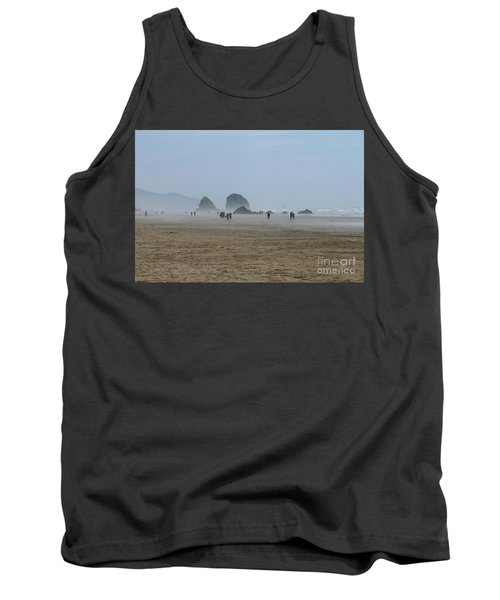 Misty Morning At Cannon Beach Tank Top by Christiane Schulze Art And Photography