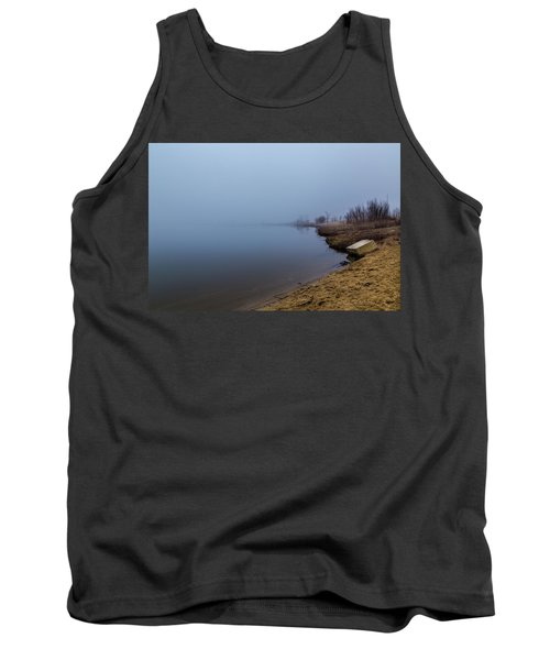 Misty Morning By The Lake Tank Top