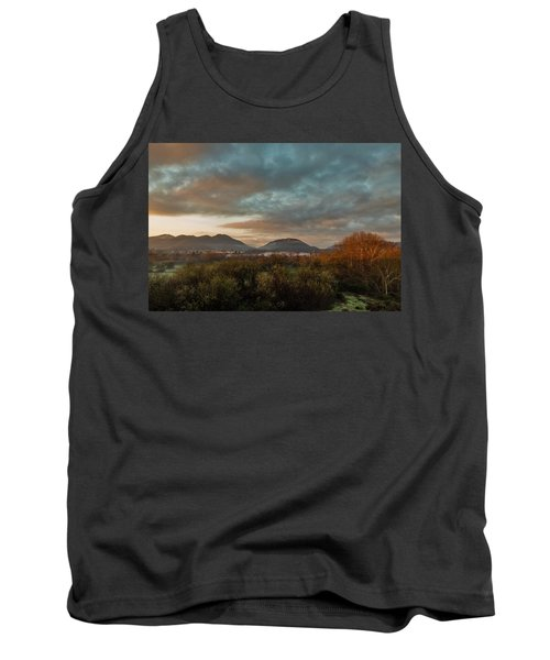 Misty Morning Over The San Diego River Tank Top