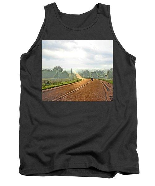 Misty Morning Ride Arkansas Tank Top