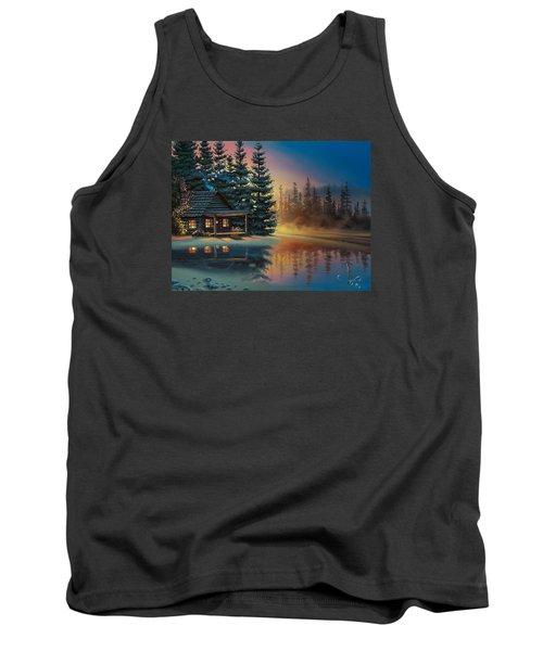 Tank Top featuring the painting Misty Refection by Al Hogue
