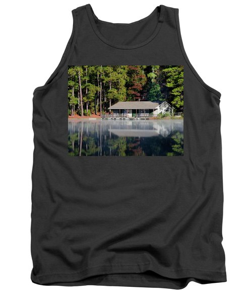 Misty Reflection At Durant Tank Top by George Randy Bass