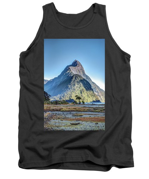 Tank Top featuring the photograph Mitre Peak At Low Tide by Gary Eason