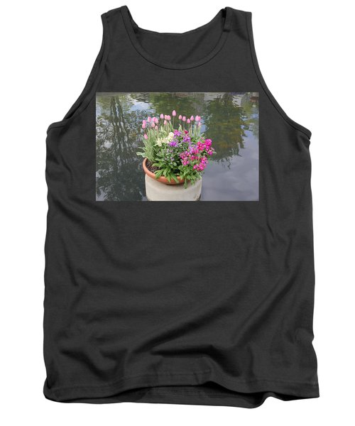 Mixed Flower Planter Tank Top