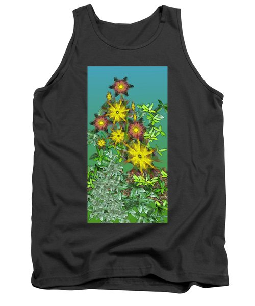 Mixed Flowers Tank Top