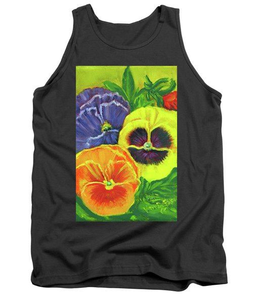 Mixed Pansy Seed Packet Tank Top