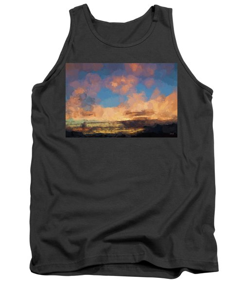 Tank Top featuring the photograph Moab Sunrise Abstract Painterly by David Gordon