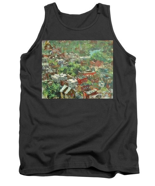Tank Top featuring the painting Modern Cityscape Painting Featuring Downtown Richmond Virginia by Robert Joyner
