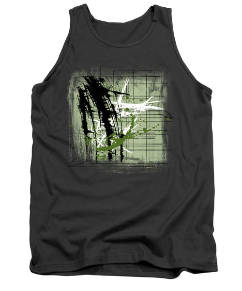 Modern Green Tank Top by Melissa Smith