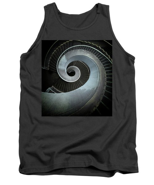 Tank Top featuring the photograph Modern Spiral Stairs by Jaroslaw Blaminsky