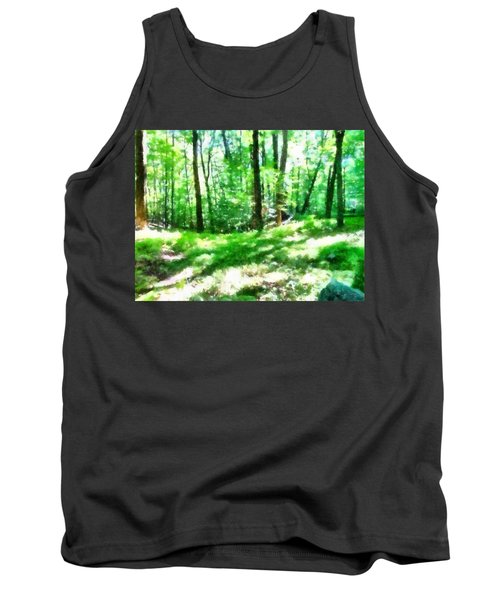 Tank Top featuring the photograph Mohegan Lake Forever Green by Derek Gedney