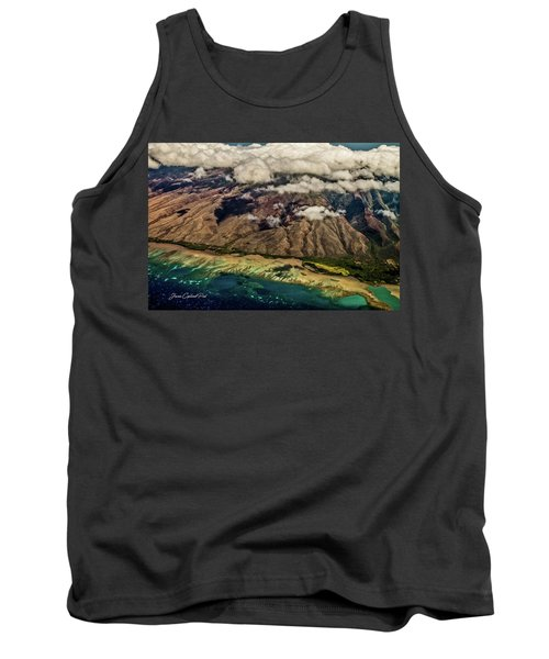 Tank Top featuring the photograph Molokai From The Sky by Joann Copeland-Paul