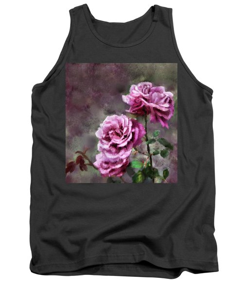 Tank Top featuring the digital art Moms Roses by Susan Kinney