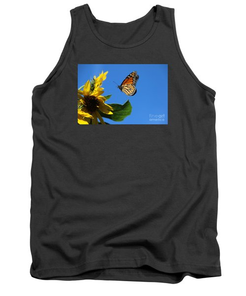 Monarch And Blue Sky  Tank Top by Yumi Johnson