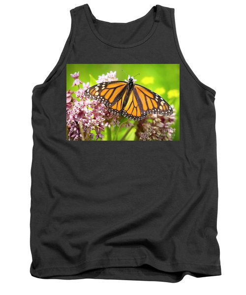 Tank Top featuring the photograph Monarch Butterfly Closeup  by Ricky L Jones