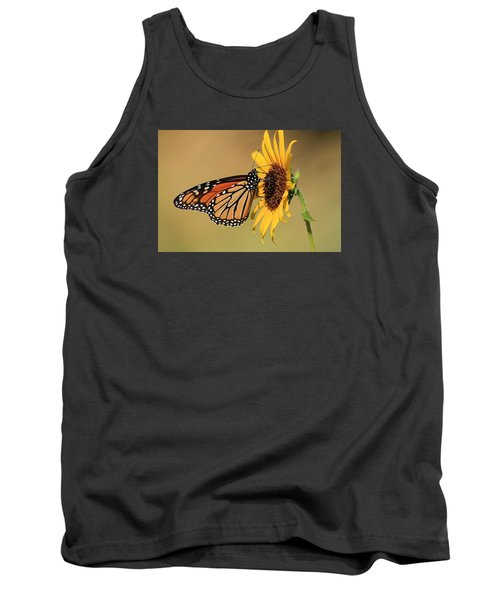 Tank Top featuring the photograph Monarch Butterfly On Sun Flower by Sheila Brown