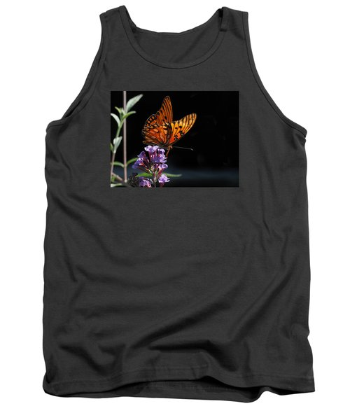 Monarch On Purple Flowers Tank Top
