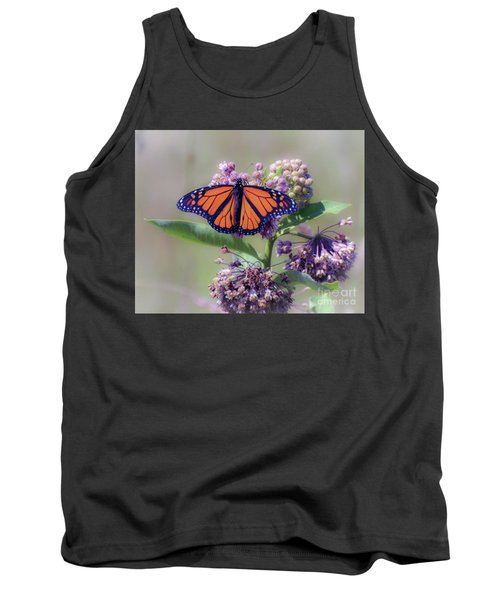 Tank Top featuring the photograph Monarch On The Milkweed by Kerri Farley