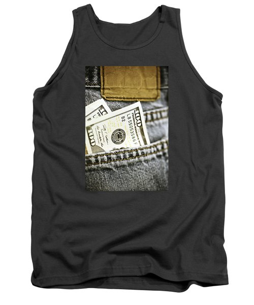 Tank Top featuring the photograph Money Jeans by Trish Mistric