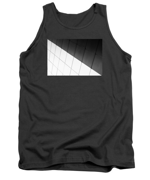 Monochrome Building Abstract 3 Tank Top by John Williams